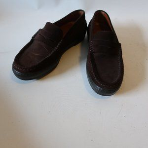 TOD'S BROWN SUEDE VIBRAM LOAFER FLAT SHOE 8 *